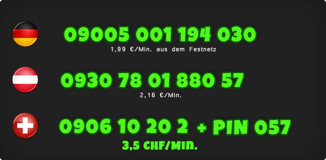 0900 Telefonsex Nummern einer Studentin für Deutschland, Österreich und Schweiz