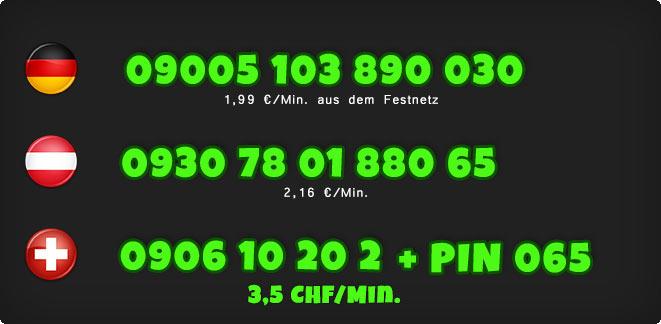 0900 Telefonsex Nummern der Türkin für Deutschland, Österreich und Schweiz